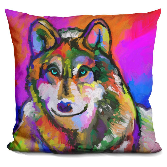Pop Art Wolf Pillow