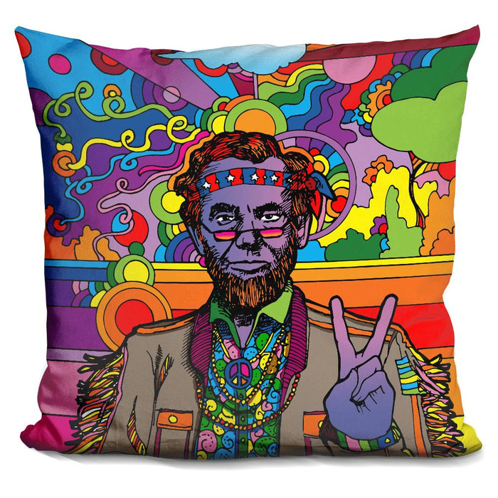Psychedelic Abe Pillow