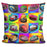 Pop Art Bumper Cars Pillow