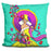 Pop Art Deco Lady 217 Pillow