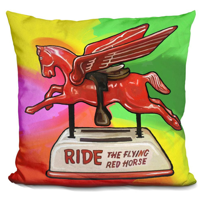 Pop Art Flying Horse Ride Pillow