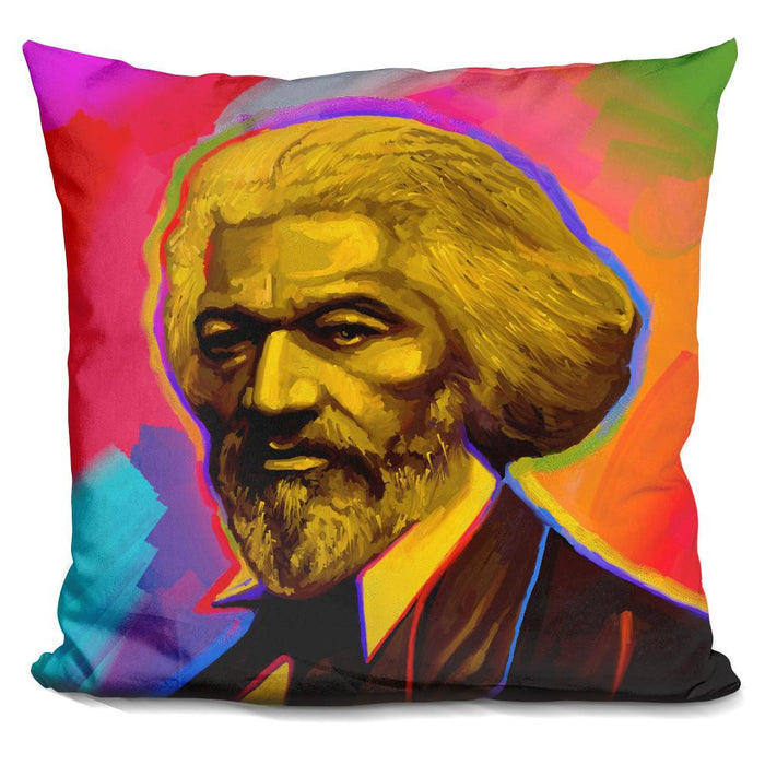 Pop Art Fredrick Douglas Pillow
