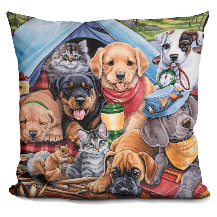 Camping Buddies Pillow