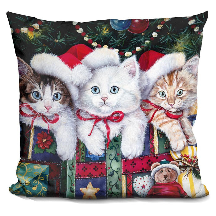 Meowy Christmas Pillow
