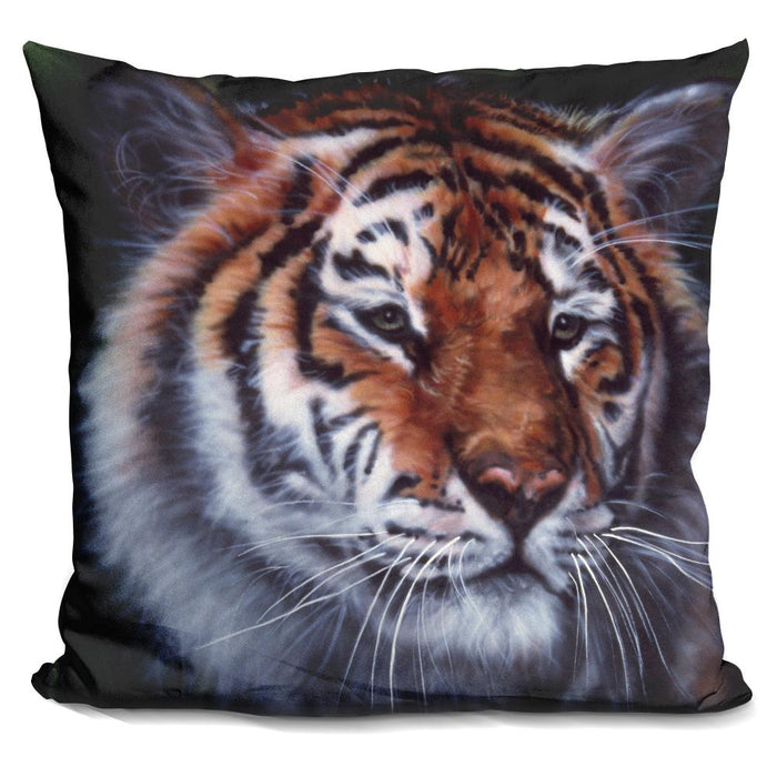 Tiger In The Midst Pillow