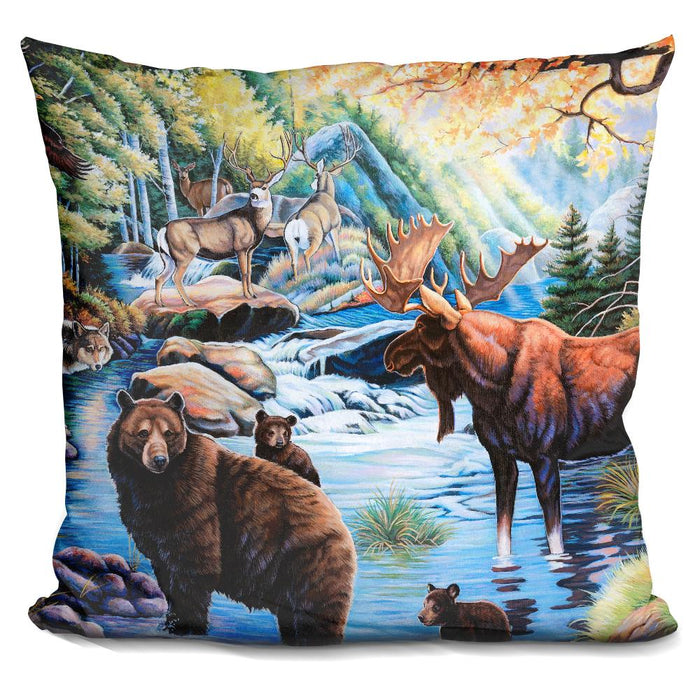 North American Wildlife Pillow