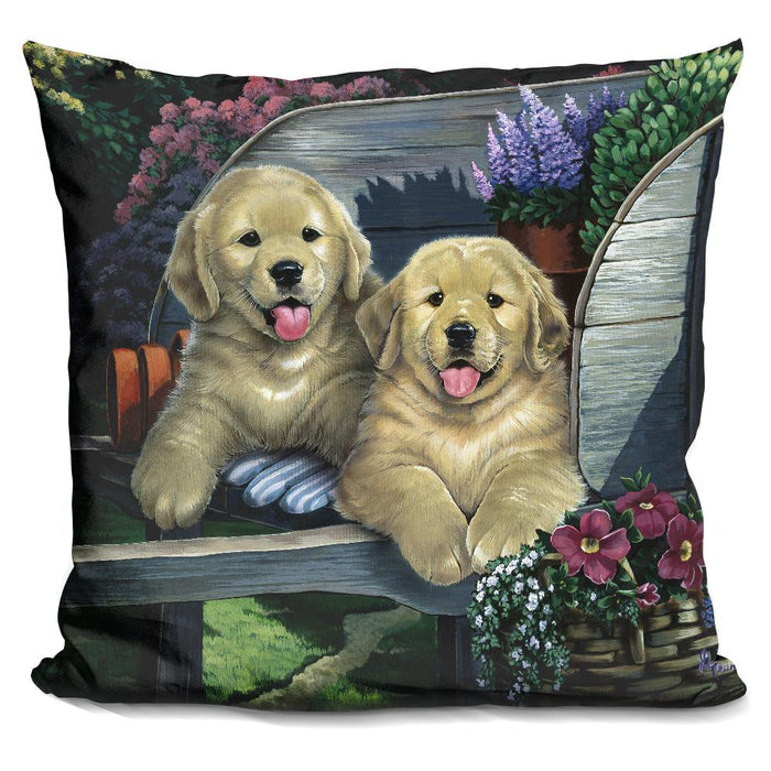 Wagging Along For The Ride Pillow
