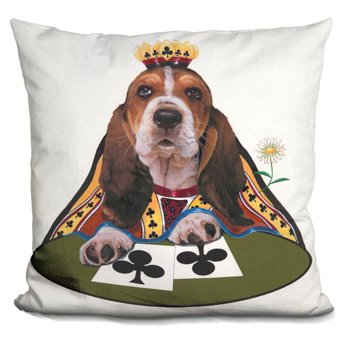 Queen Of Clubs Pillow