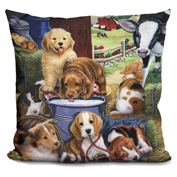 Puppy Hayday Pillow