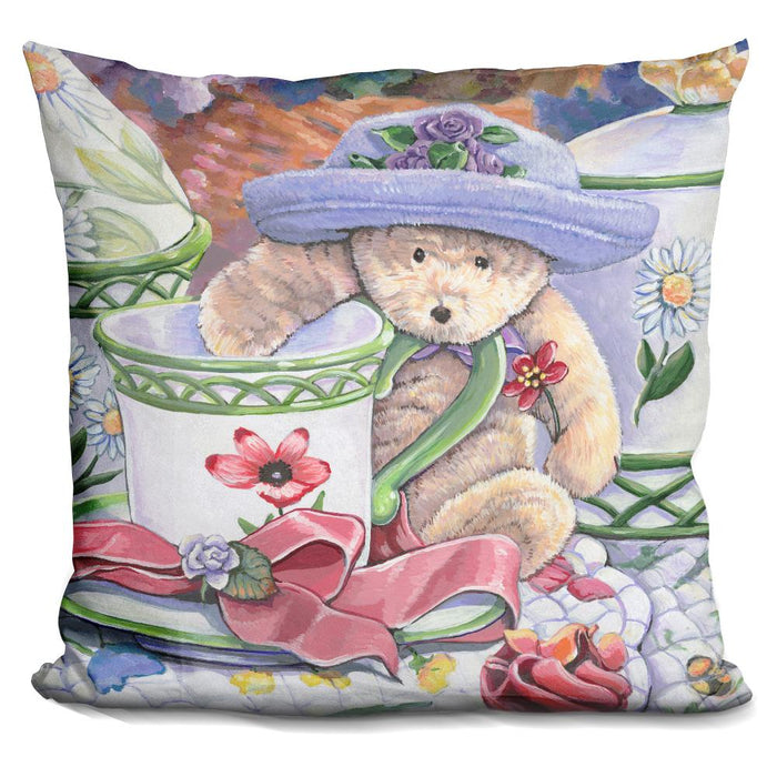 Tea Party Bear 3 Pillow