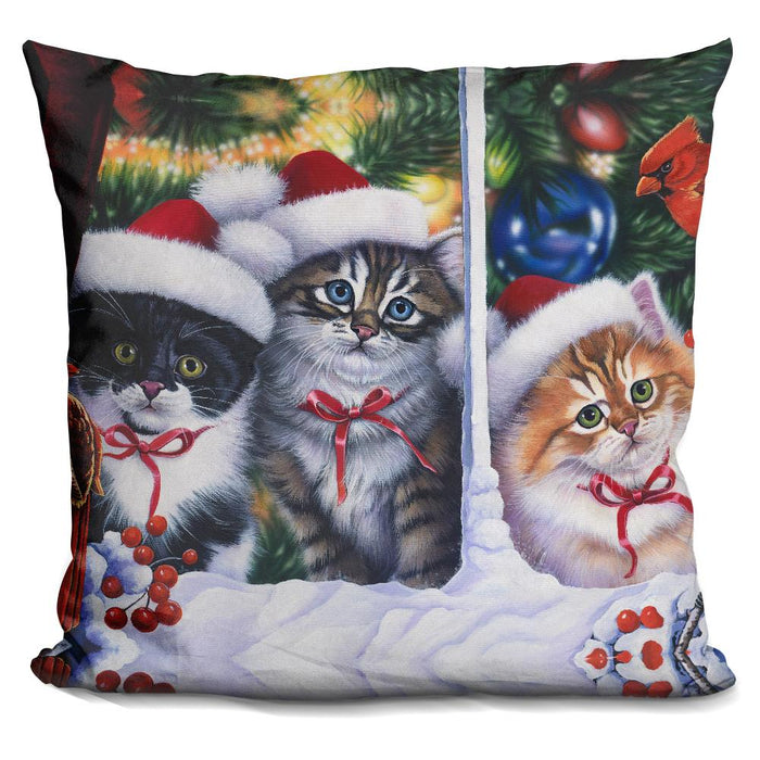 Cats In Window Pillow