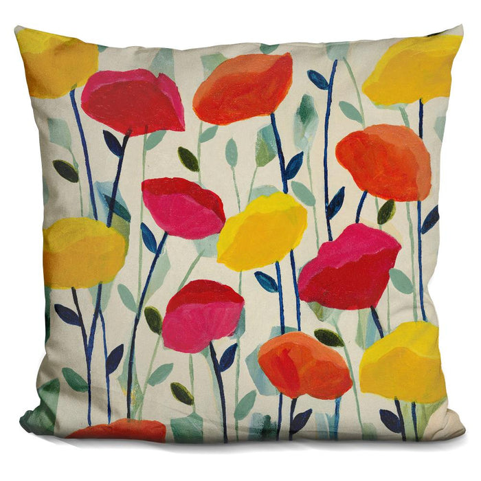 Cheerful Poppies Pillow