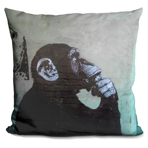 The Thinker Monkey Pillow