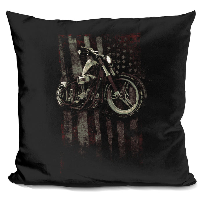American Muscle Motorcycle I Pillow