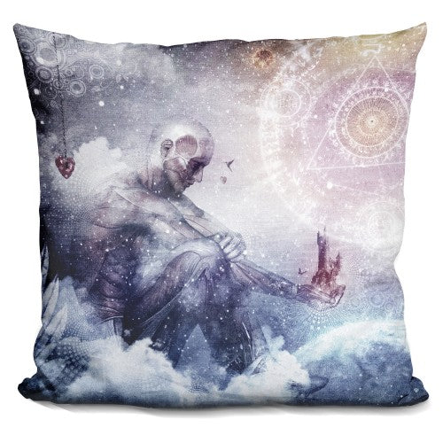 Awake In A Silver Land Pillow
