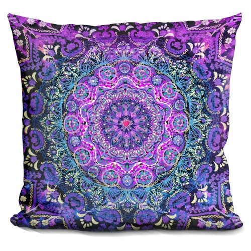 Cosmic Love Mandala Pillow