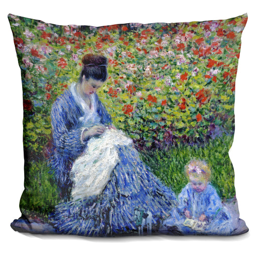Camille Monet and a Child Pillow