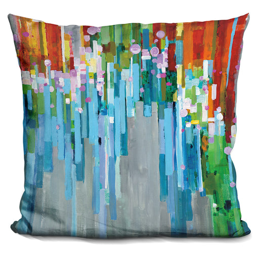 Rainbow Of Stripes Pillow