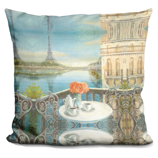 Morning on the Seine Crop Pillow