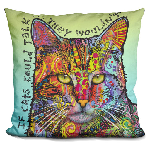 If Cats Could Talk Pillow