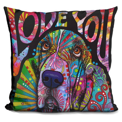 Love You Basset Pillow