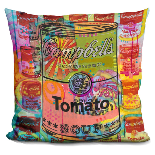 Tomato On Mushrooms Pillow