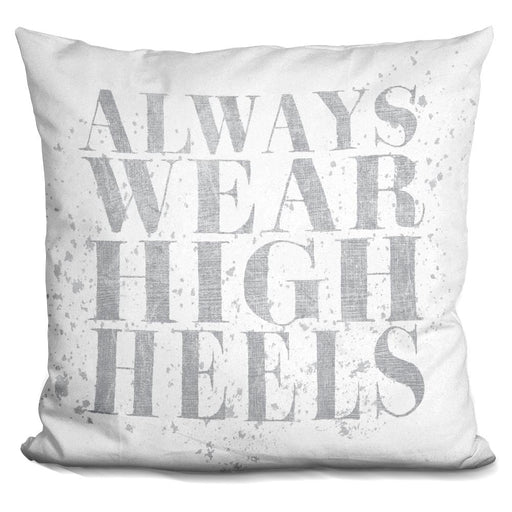 Shoe Fetish Quotes II Light Silver Pillow