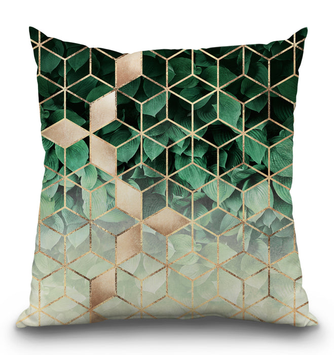 Leaves And Cubes Pillow