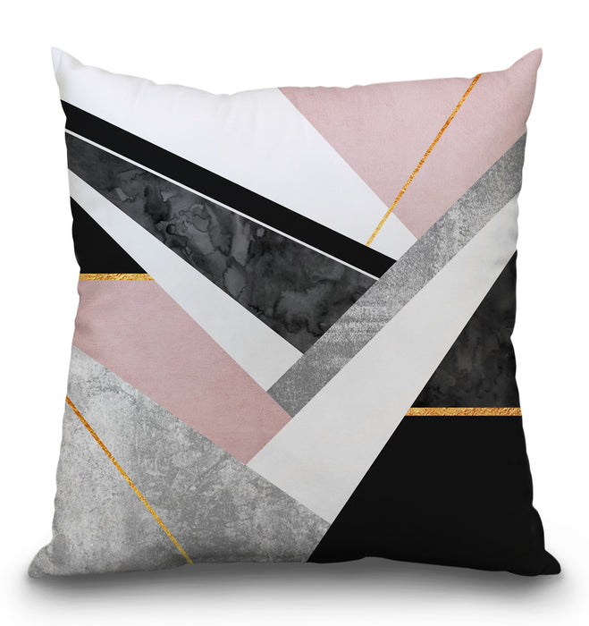 Lines And Layers Pillow