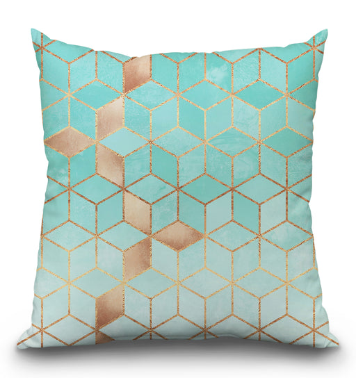 Soft Gradient Aquamarine Pillow