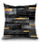 Urban Black And Gold Pillow
