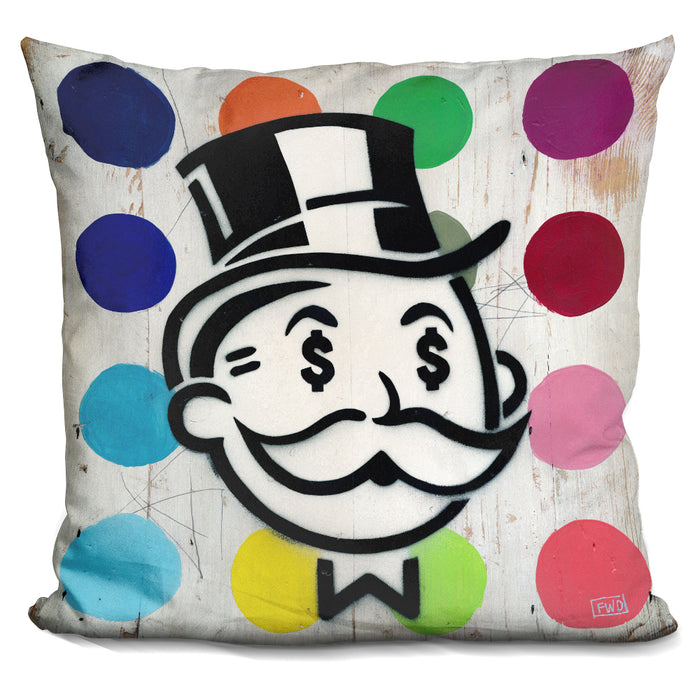 Another Day Another Dollar Dots Pillow
