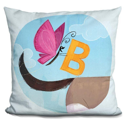 B Is For Butterfly Pillow