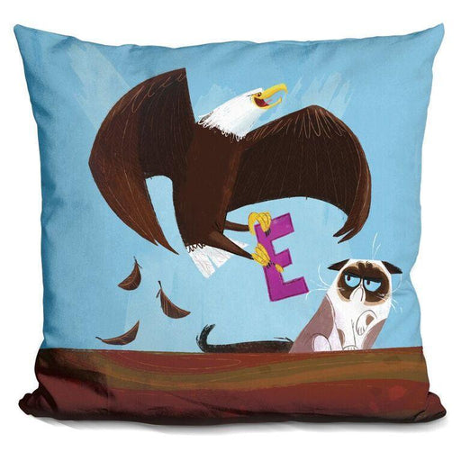 E Is For Eagle Pillow