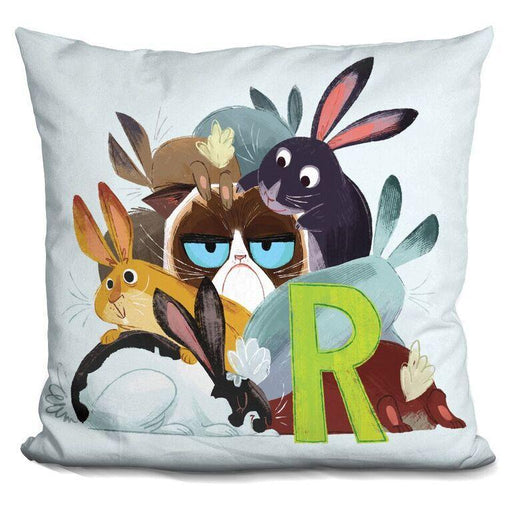 R is for Rabbits Pillow