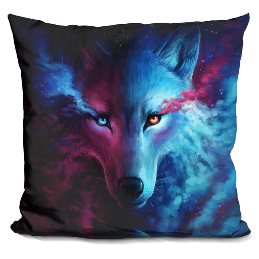 Wolf Galaxy Pillow