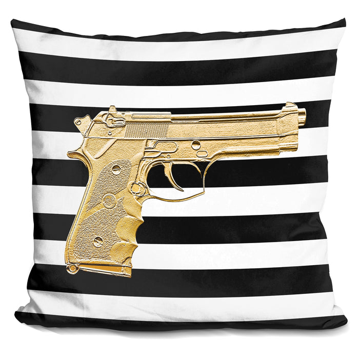 Armed In Gold Pillow