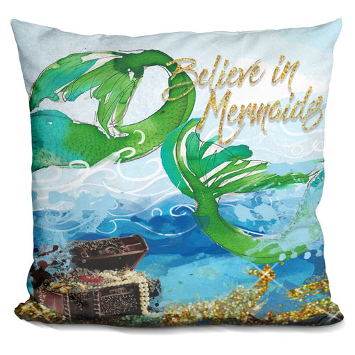 Believe In Mermaids Pillow