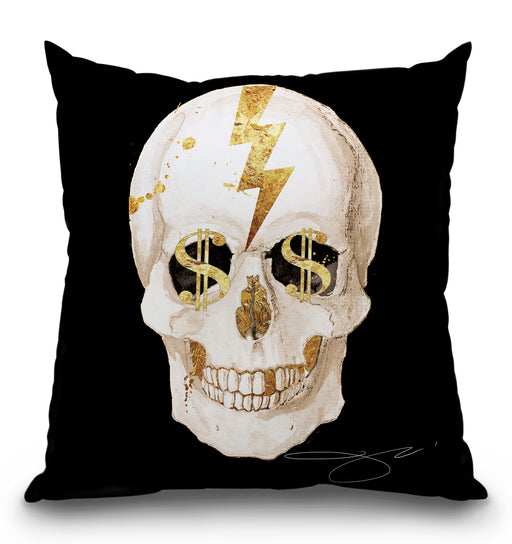 Money Skull Pillow