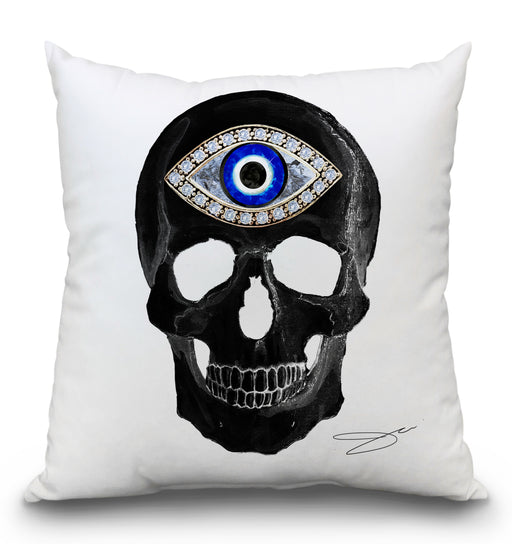 Protection Skull Black Pillow