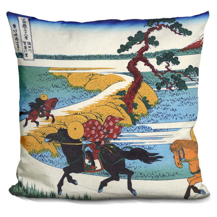 Barrier Town On The Sumida Rive Pillow