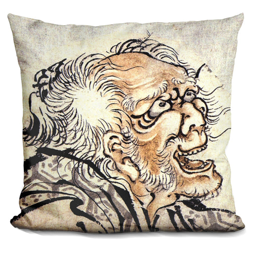 Head Of An Old Manhokusai Pillow