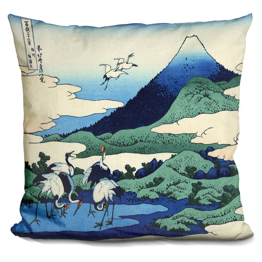 Hundred Views Of Mt Fuji Pillow