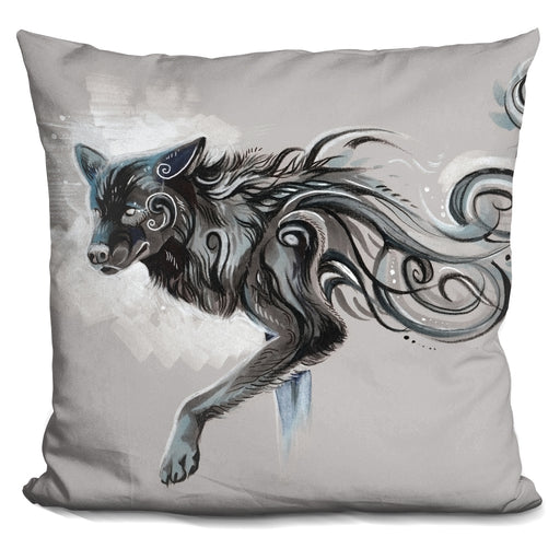 Black Wolf Pillow