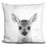 Baby Deer2 Bw Pillow