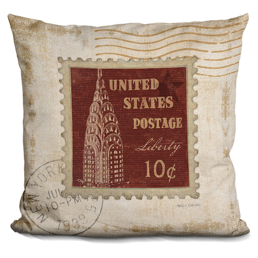 Iconic Stamps Ii Pillow