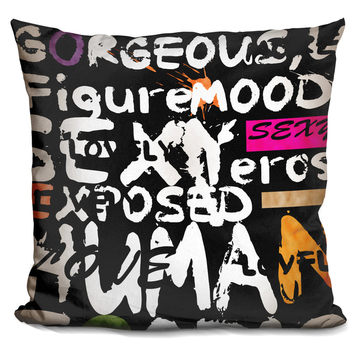 Abstract Of Words I Pillow