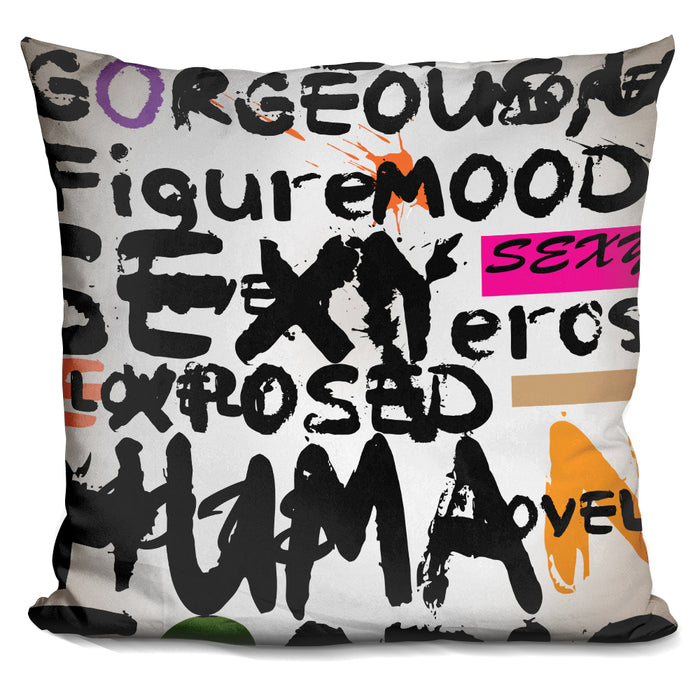 Abstract Of Words Ii Pillow