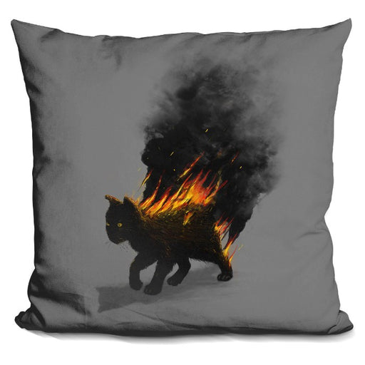 This Cat Is On Fire Pillow