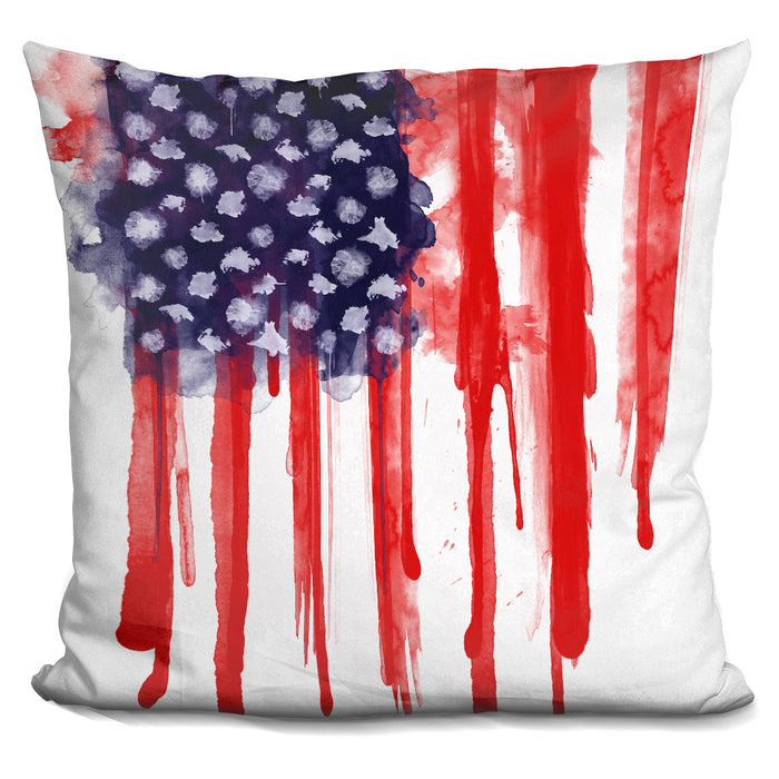 American Spatter Flag Pillow